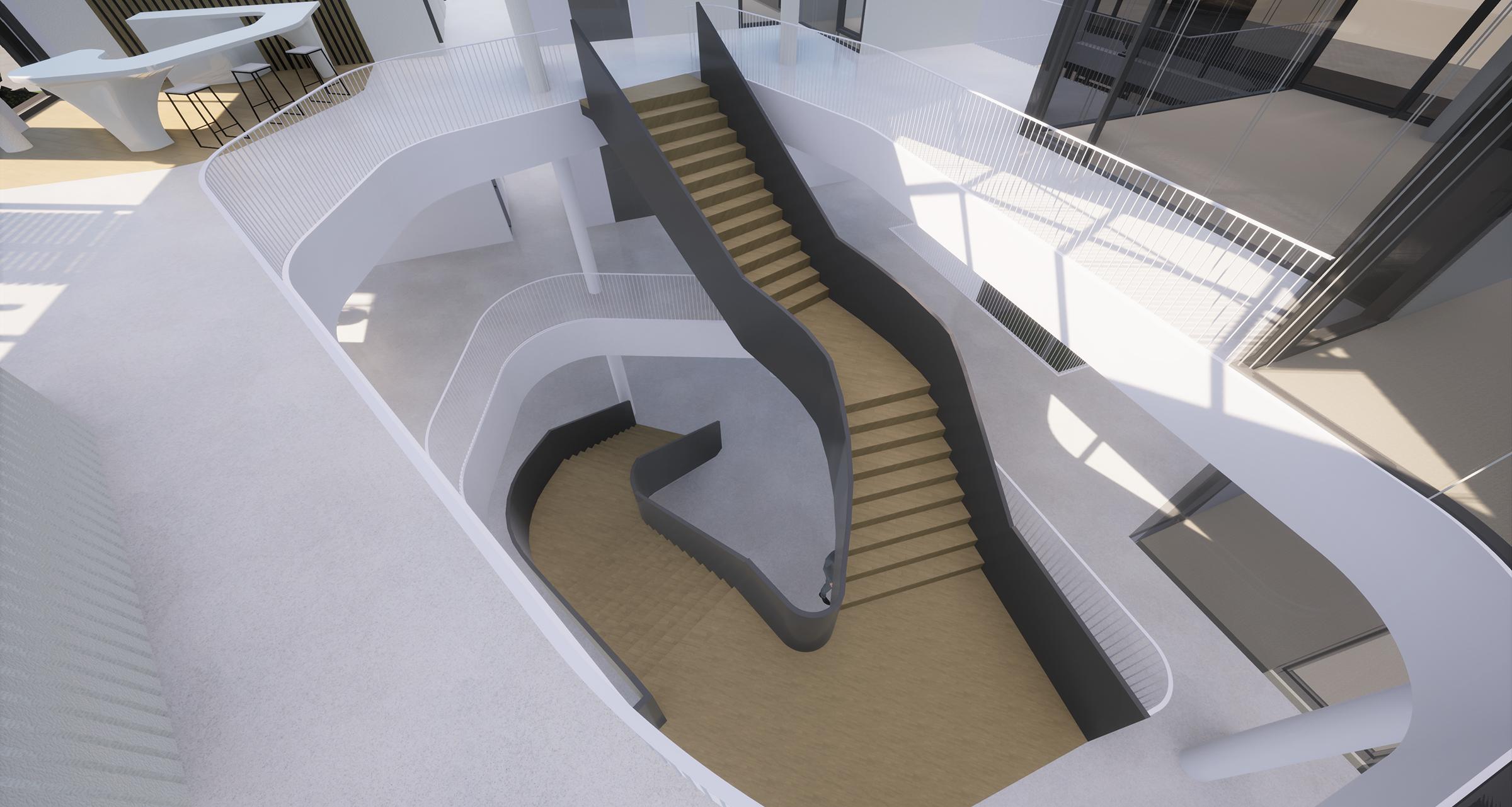 Stadtwerke Service schwarze Treppe
